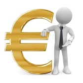 business-man-leaning-on-the-euro-sign